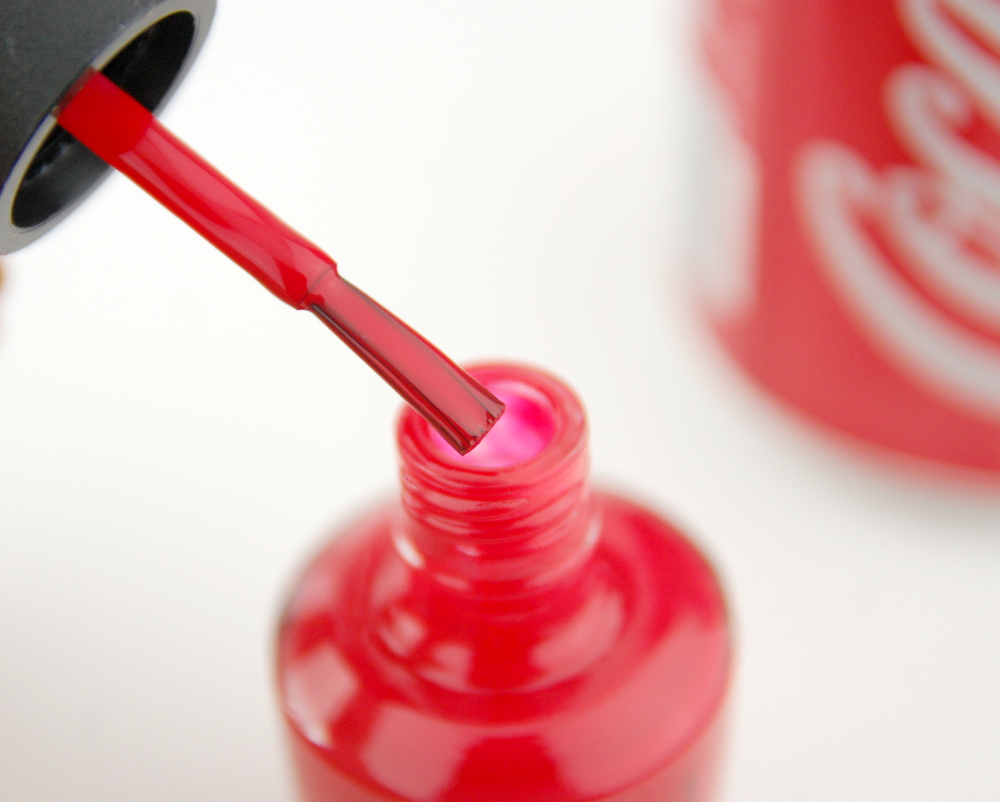 OPI Coca Cola Summer 2014 collection Coca Cola Red nail polish bottle