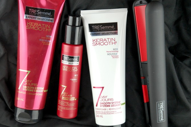 Tresemme 7 Day Keratin Smooth System and a Conair Flat Iron, it's a hair miracle!