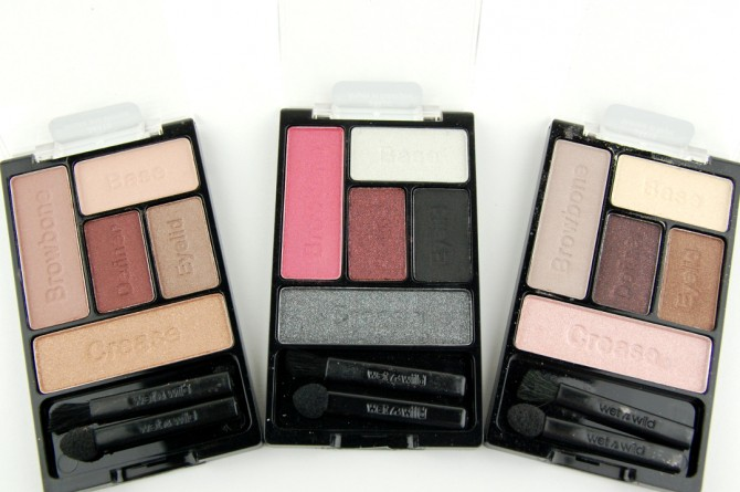 Wet n Wild Fall 2014 Limited Edition eyeshadow palettes: Smoke and Melrose, Angels in Aubergine, Melrose at Night