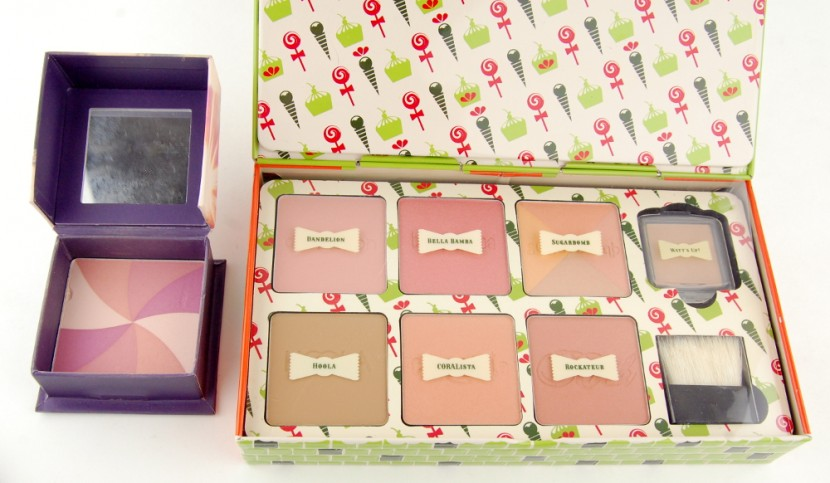 Benefit Cosmetics Cheeky Sweet Spot Box O Blushes Palette review comparison