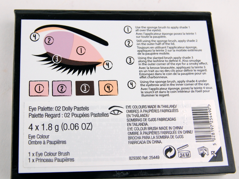The Body Shop Dolly Pastels eyeshadow palette back