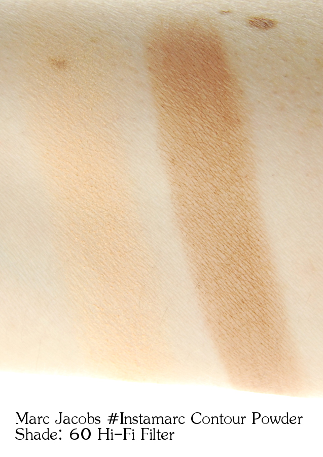 Marc Jacobs Instamarc Light Filtering Contour Powder in 60 Hi-Fi Filter swatches