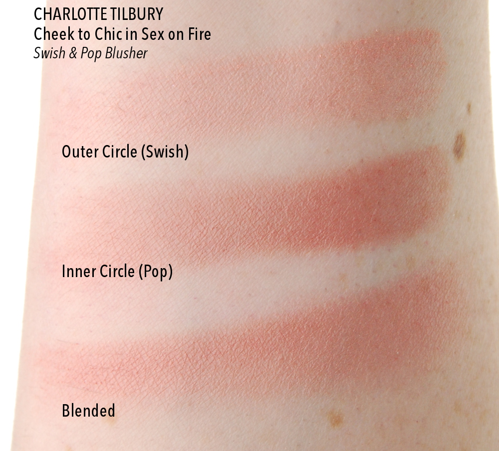 Charlotte Tilbury Cheek to Chic Sex on Fire blush swatch