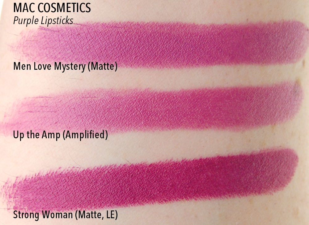 MAC Men Love Mystery Up the Amp Strong Woman swatch comparison dupe