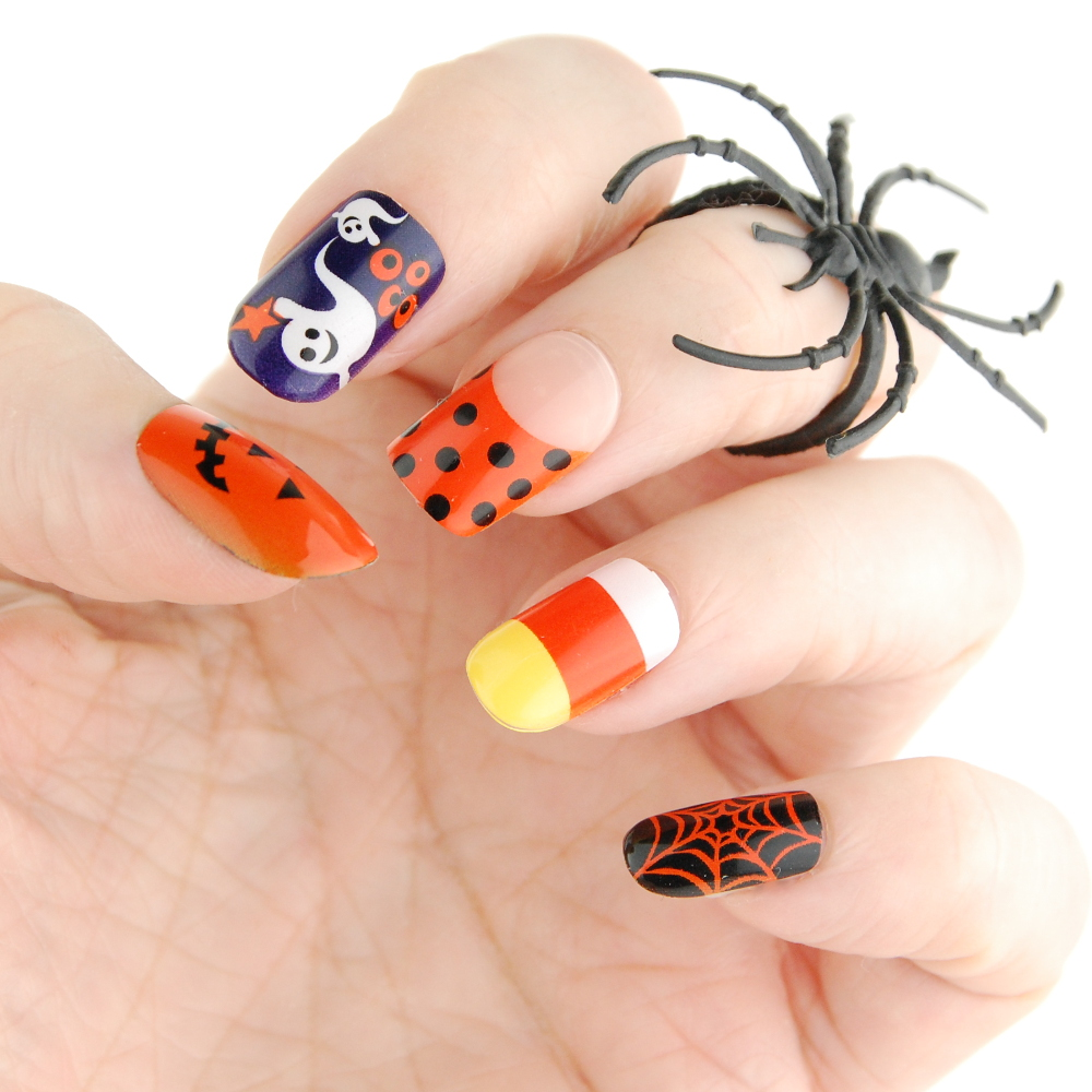 Broadway Nails imPRESS Press-on Manicure nails Halloween 2015 Cauldron Haunting