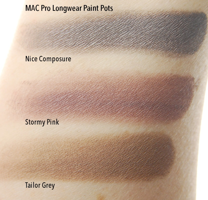 mac cosmetics pro longwear paint pot in composure review swatch and review
