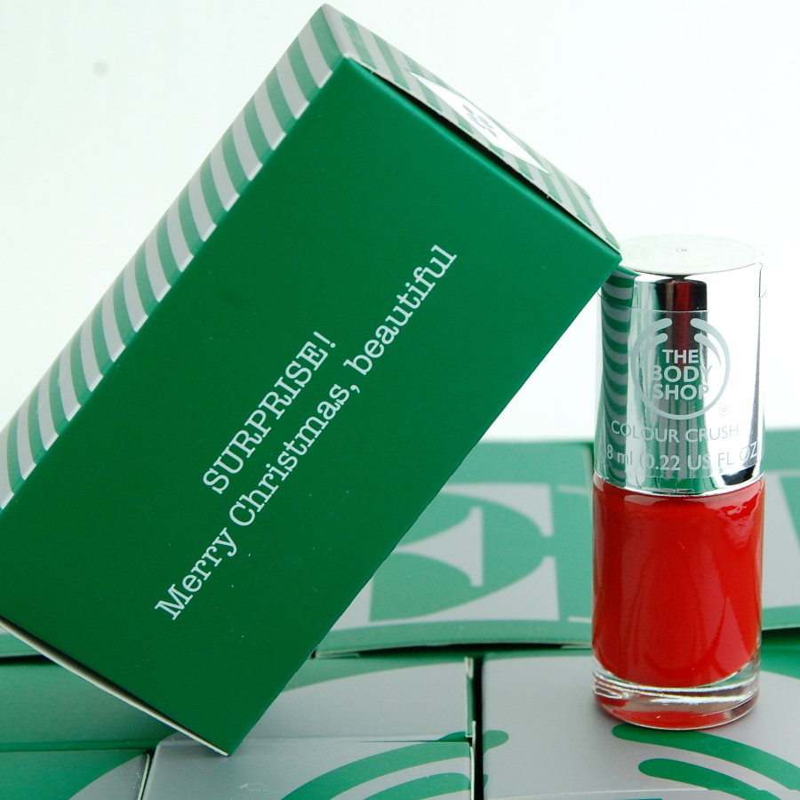 Day 25 The Body Shop 24 Happy Days Advent Calendar 2015 Red Nail Polish