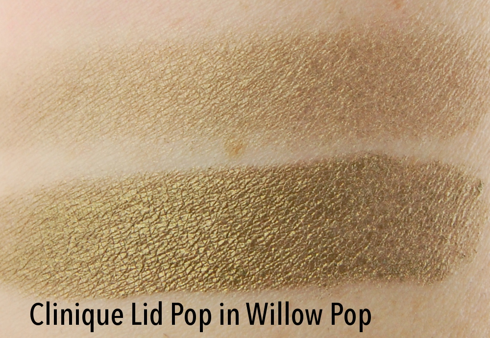 Clinique Lid Pop eyeshadow Willow Pop wet dry swatch