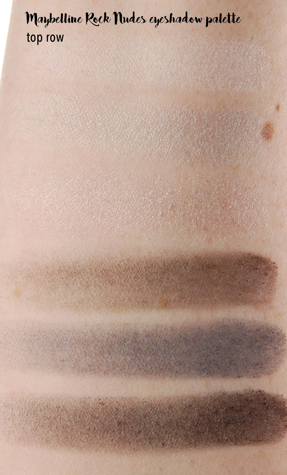 Maybelline Rock Nudes eyeshadow palette review swatches 1