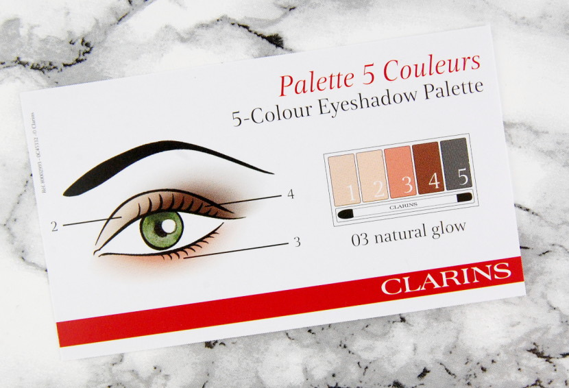 Clarins Instant Glow Spring 2016 5 Colours Eyeshadow Palette Natural Glow booklet