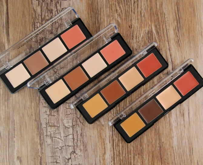 Make Up For Ever Pro Sculpting Face Palette 20 Light, 30 Medium, 40 Tan, 50 Dark comparisons