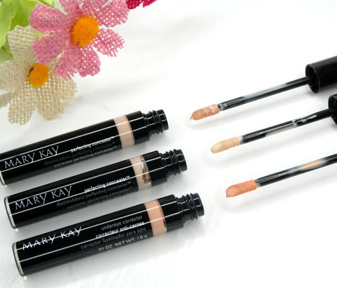 Mary Kay Undereye Corrector and Perfecting Concealers review + swatches