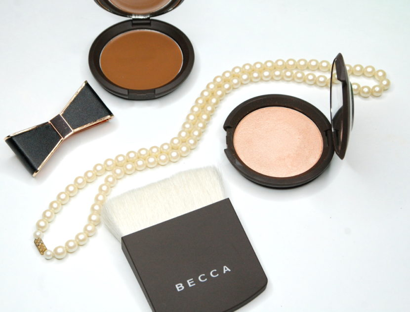 Becca Cosmetics Lowlight Sculpting Perfector Champagne Pop review fair skin 3
