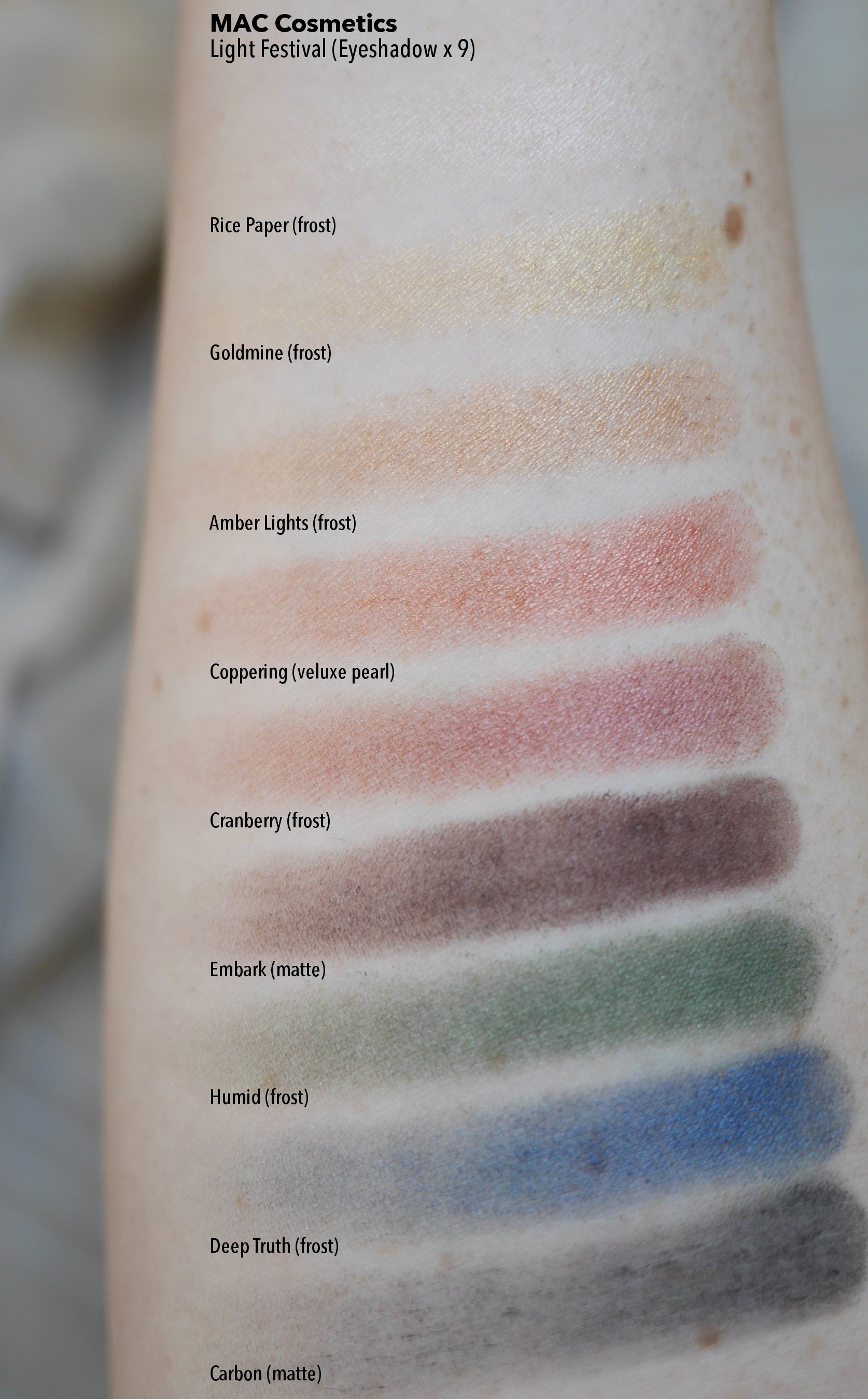 MAC Cosmetics Diwali Light Festival Eyeshadow x 9 palette review swatches