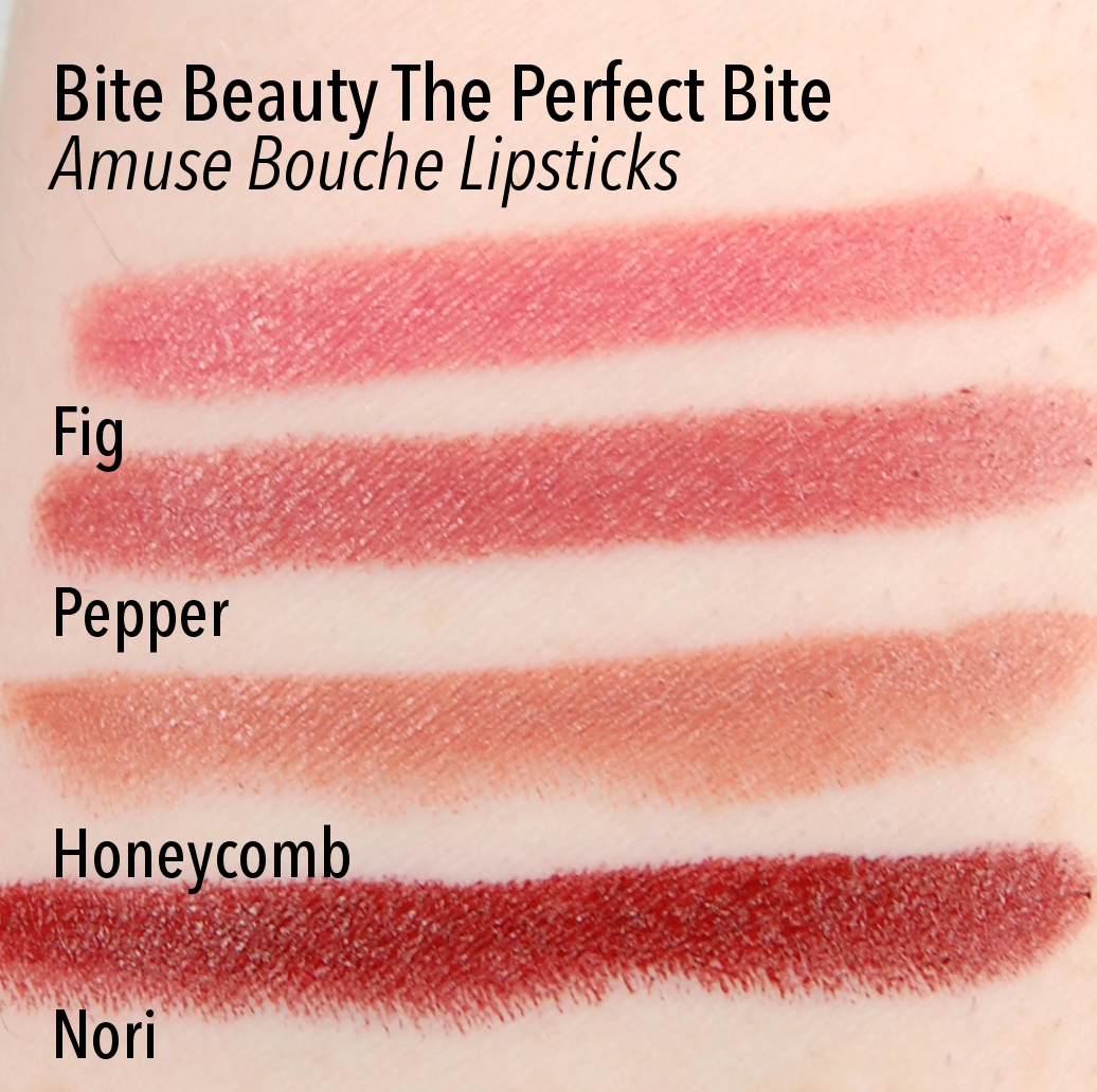 Bite Beauty Perfect Bite Amuse Bouche Lipstick Fig Pepper Honeycomb Nori swatch
