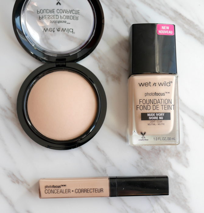 wet n wild Photo Focus Concealer, Foundation and Pressed Powder review