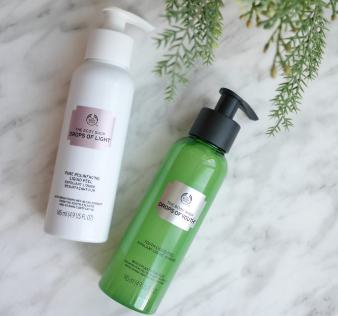The Body Shop Drops of Youth vs. Drops of Light Liquid Peels
