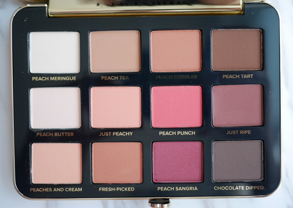 Too Faced Just Peachy Peach Mattes eyeshadow palette review 2