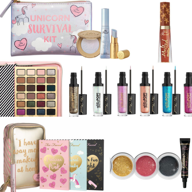 Too Faced Holiday 2017 collection (including Ulta + Sephora exclusives)