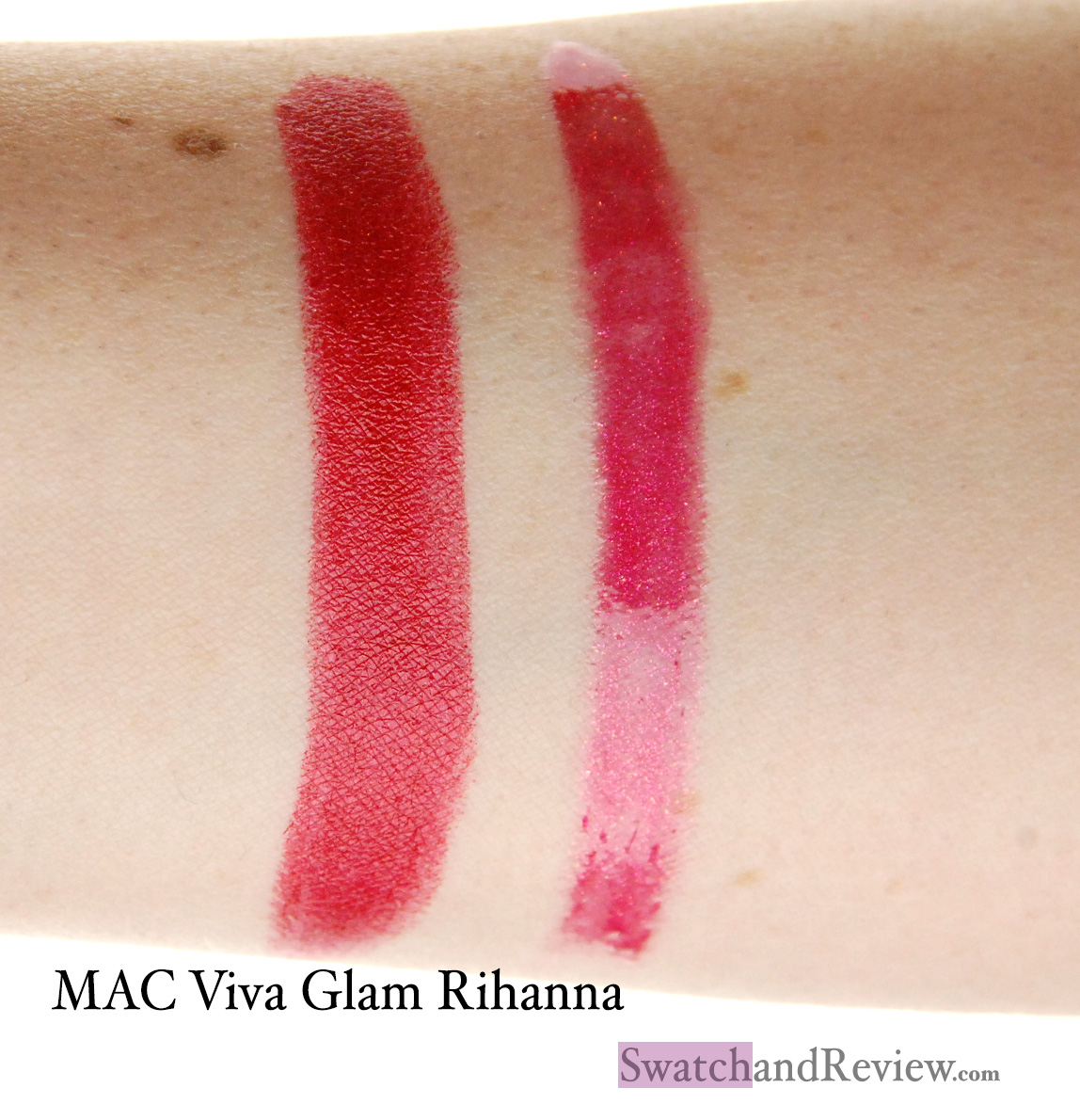 MAC Viva Glam Rihanna lipstick and lipglass review ...