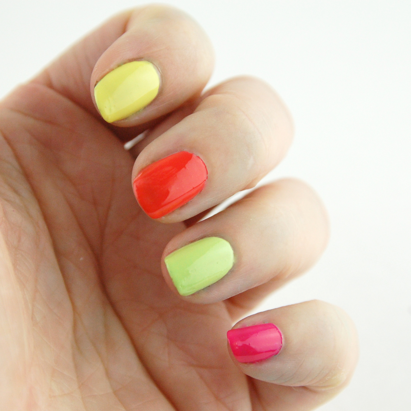 Colorful Neon Nail Polish 2 Mold - Nail Art Ideas - morihati.com