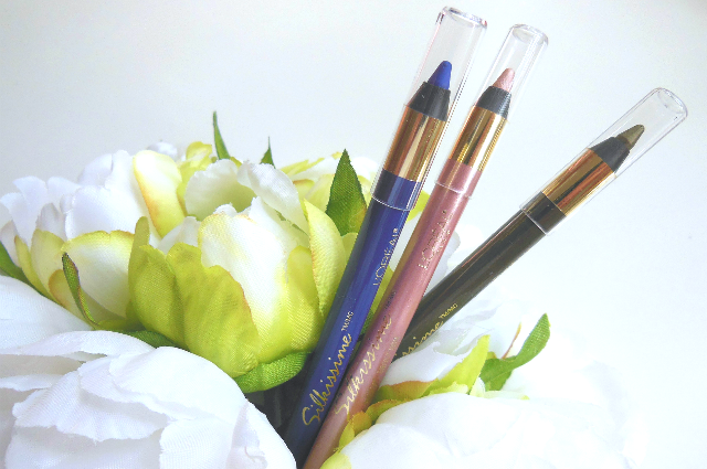 Loreal Silkissime Eyeliner Pencils Green Ivy Cobalt Blue Highlighter review
