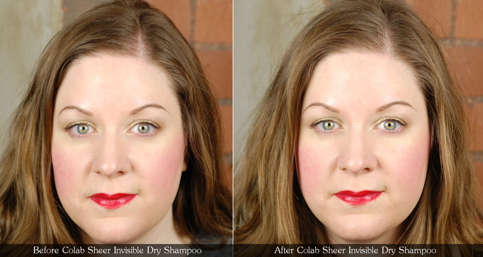 Colab Sheer Invisible Dry Shampoo Before After