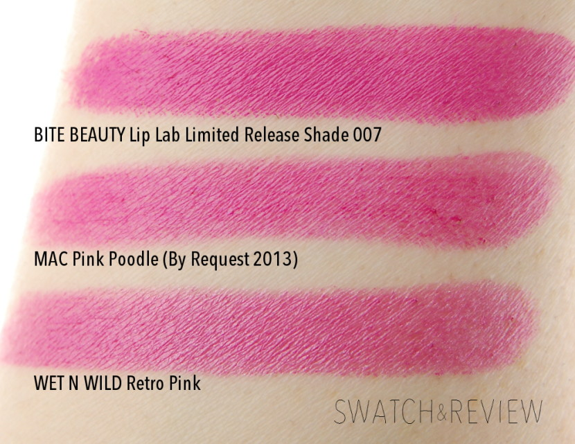 Bite Beauty Lip Lab Limited Release Creme Deluxe Lipstick Shade 007 swatches dupes comparison