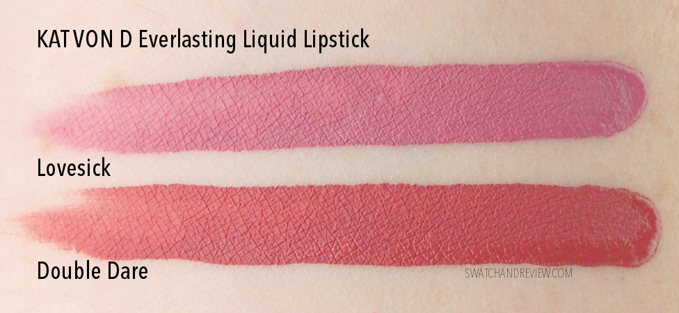 Kat Von D Everlasting Liquid Lipstick Double Dare Lovesick swatch