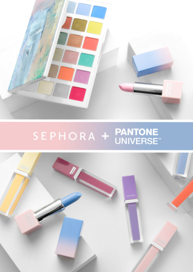 sephora pantone universe 2016 color of the year collection rose quartz serenity swatch. Black Bedroom Furniture Sets. Home Design Ideas