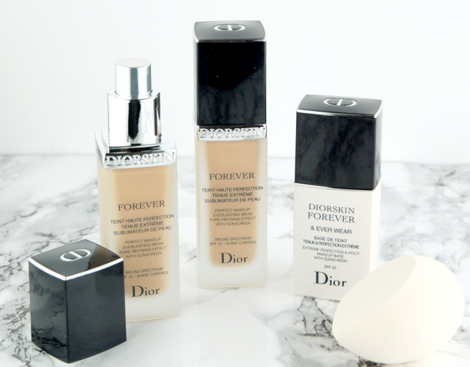 Dior Diorskin Forever Perfect Makeup Fluid Foundation in 010 Ivory, 020 Light Beige, 030 Medium Beige