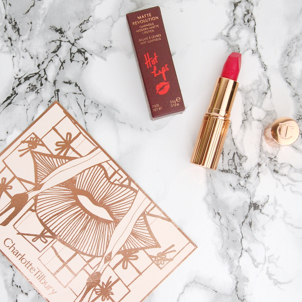Charlotte Tilbury Hot Lips lipstick Electric Poppy review 4 (2)
