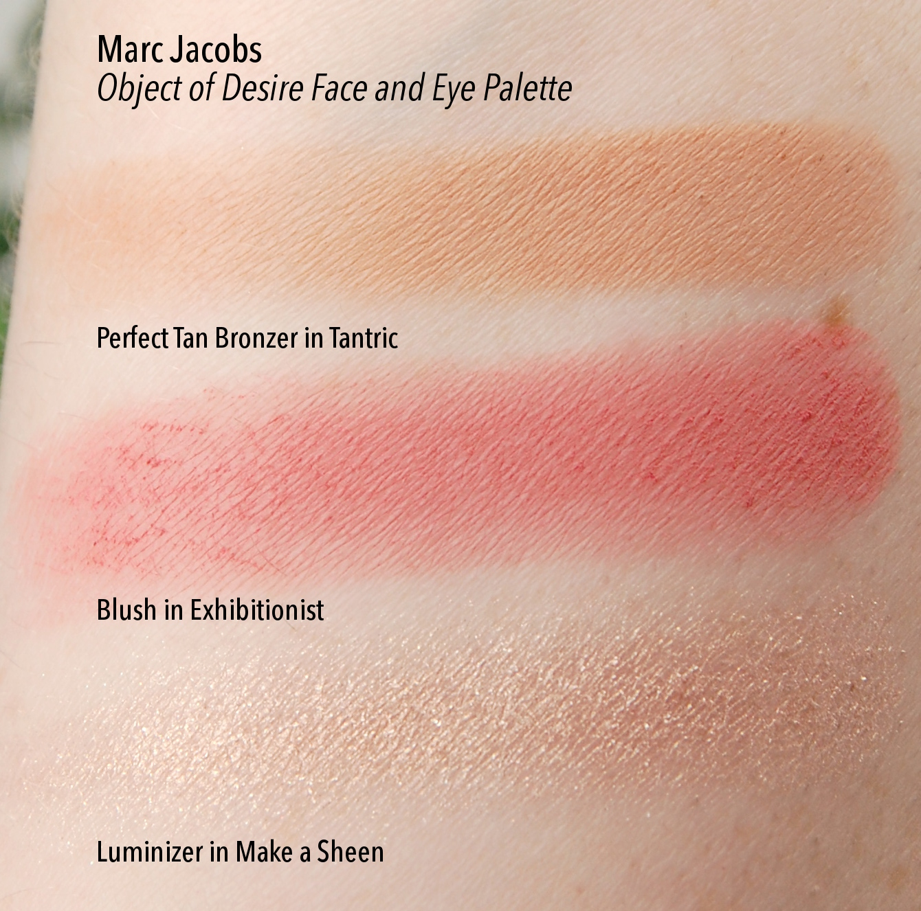 Marc Jacobs Object of Desire Face and Eye Palette swatches 1