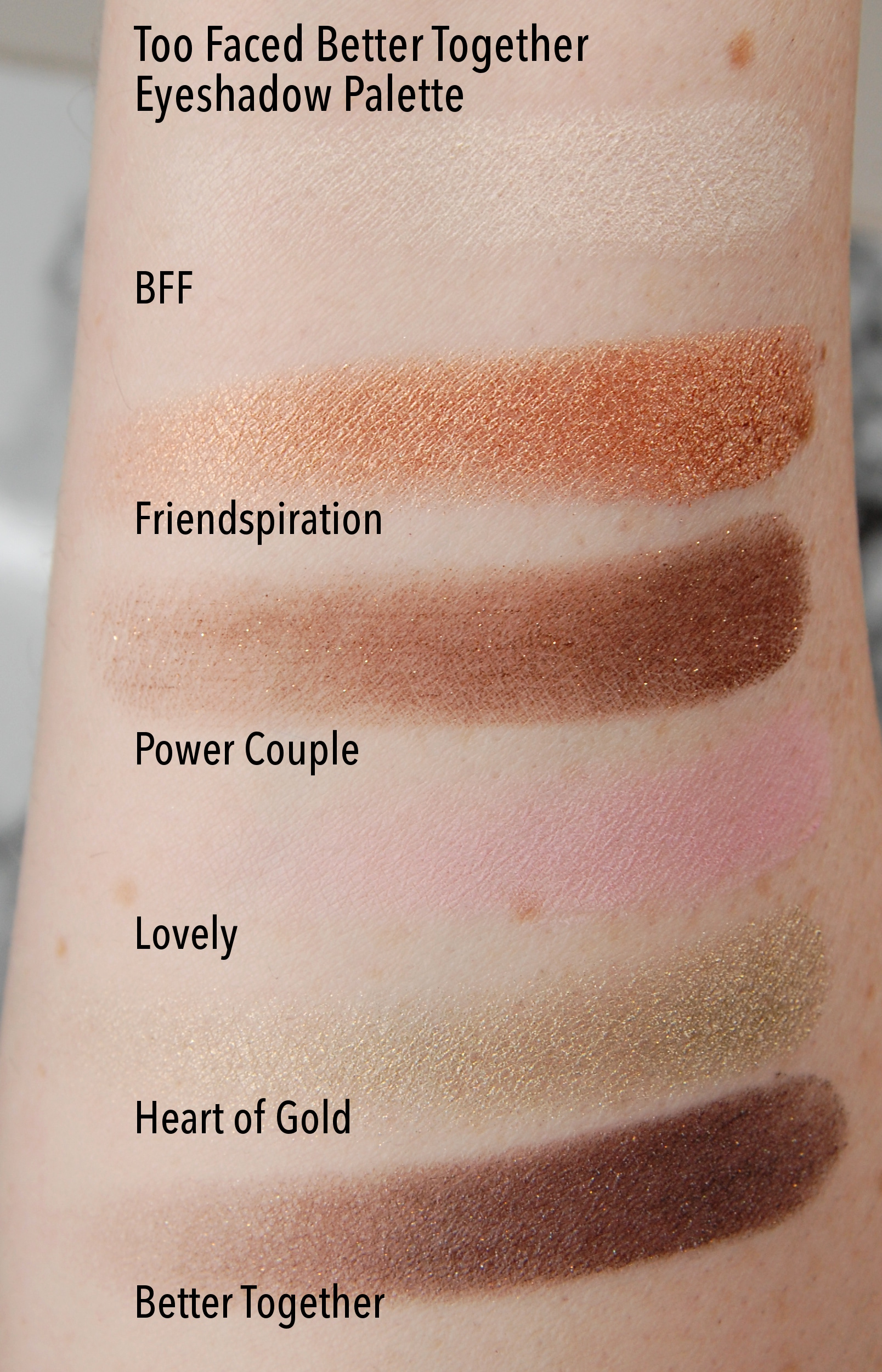Too Faced Kat Von D Better Together Ultimate Eye Collection swatches 1