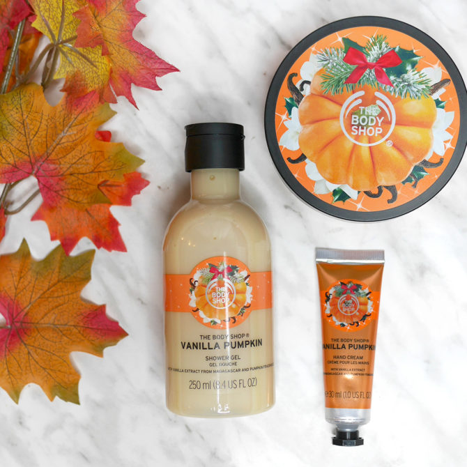 The Body Shop Holiday 2017: new Vanilla Pumpkin products!